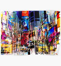 Times Square NYC Abstract Art Poster