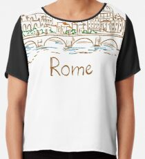 Rome Panorama Chiffon Top