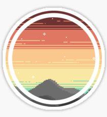 Pixel landscape Sticker