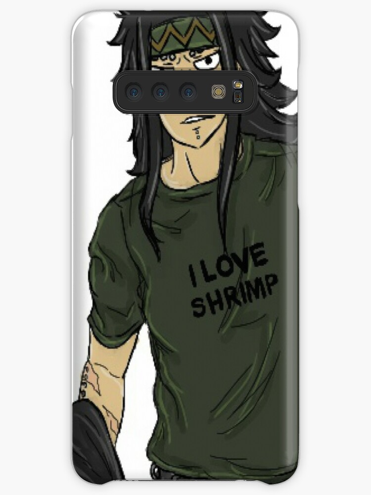 'Gajeel Loves Shrimp' Case/Skin for Samsung Galaxy by peoniesnpoppies