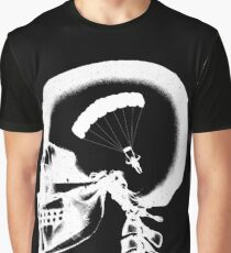 Skydiving In My Brain - Base Jump X-ray Skull Sky Diver Cool Graphic T-Shirt