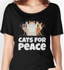 Cats For Peace  Women's Relaxed Fit T-Shirt
