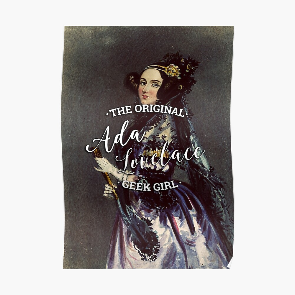 Ada Lovelace - Das Original Geek Girl Poster