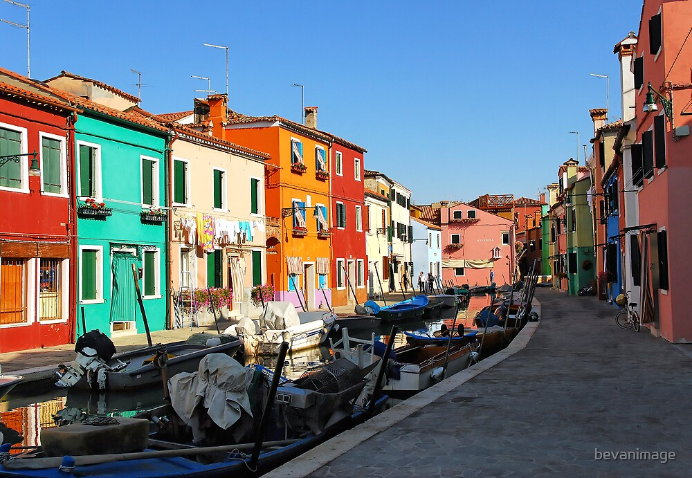 Burano, Italy by bevanimage