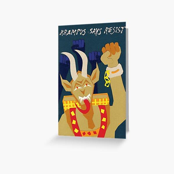 Krampus says resist Greeting Card
