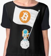 Bitcoin will Claim the Moon! Women's Chiffon Top