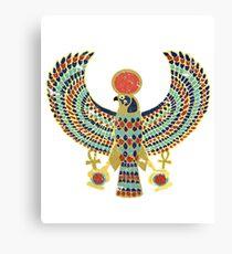 Ancient Egyptian Falcon Hieroglyphic Art  Canvas Print