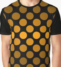 Fading Monochrome Polka Dots - Orange Graphic T-Shirt