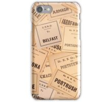 GREAT NORTHERN RAILWAY IRELAND LUGGAGE LABELS 1930'S-1940'S iPhone Case/Skin