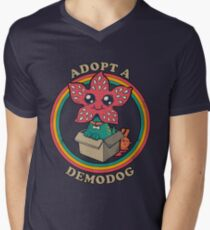 Stranger things demodog Men's V-Neck T-Shirt