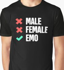 Funny Emo Design Graphic T-Shirt