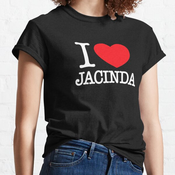i heart jacinda ardern black white red New Zealand Prime Minister Kiwi I love ny style Classic T-Shirt