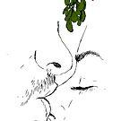 Nose Kiss Under The Mistletoe by Banarn