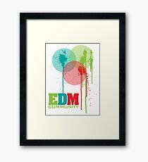 EDM Community (interacting bubbles) Framed Print
