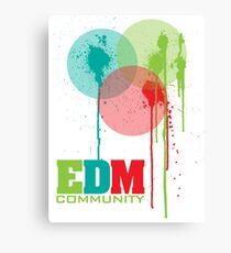 EDM Community (interacting bubbles) Canvas Print