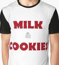 Simple Festive Milk & Cookies Graphic T-Shirt