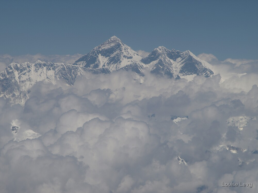Mt Everest from the Air by Louise Levy
