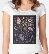 spell pastel goth Women's Fitted Scoop T-Shirt