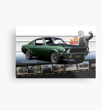 Lienzo metálico Steve McQueen Bullitt 1968 Ford Mustang