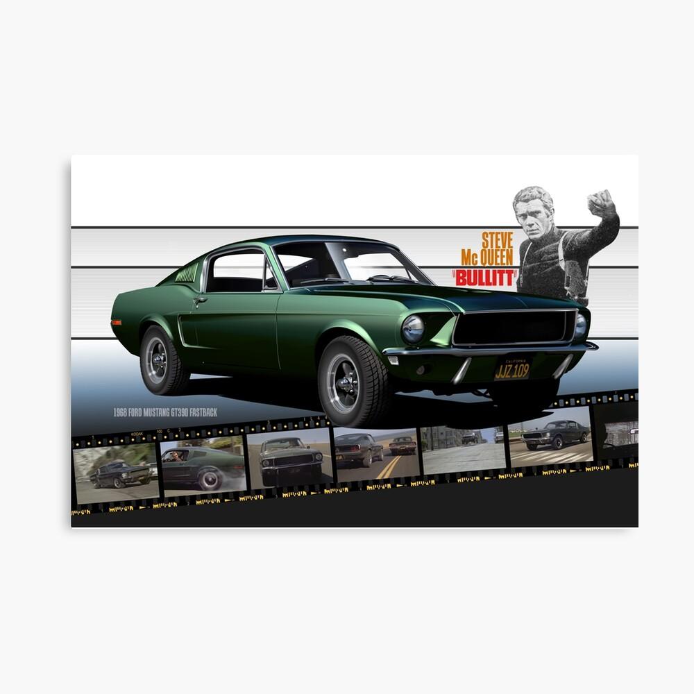 Steve mcqueen bullitt 1968 ford mustang canvas print