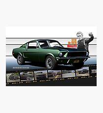 Steve McQueen Bullitt 1968 Ford Mustang Photographic Print