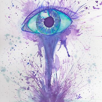 Eye Watercolor Painting by Felizaestrada