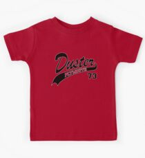 73 Plymouth Duster - White Outline Kids Clothes