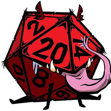 D20 Dice mimic pup RED by GrimsD20s