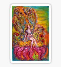 FLOWER FAIRY ON THE PINK IRIS Fantasy Collection Sticker