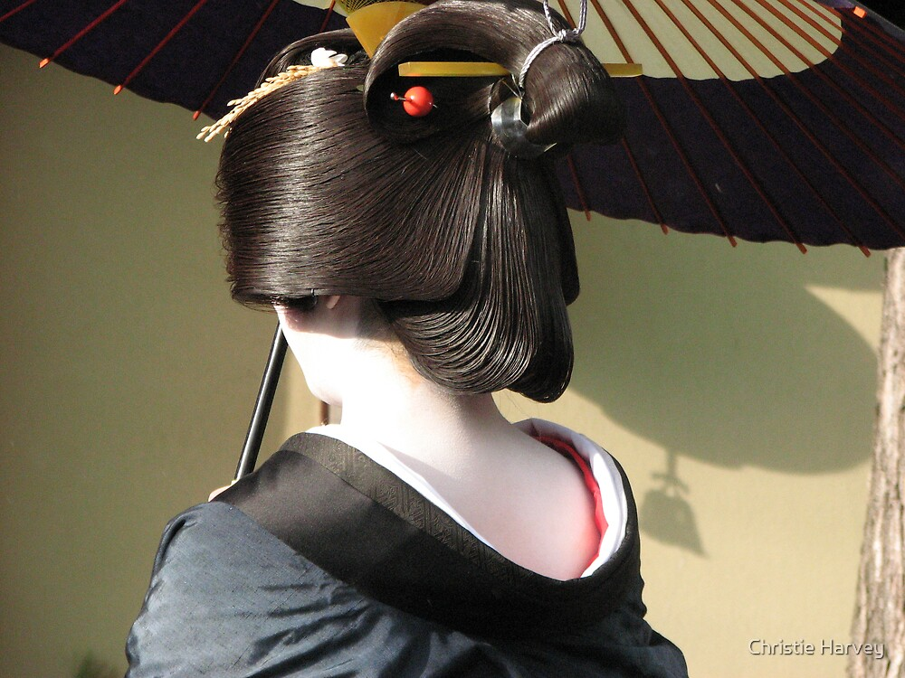 Geisha in Kyoto by Christie Harvey