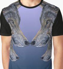4 Wölfe/wolves blue Graphic T-Shirt