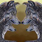 4 Wölfe /Wolves   von Doris Thomas