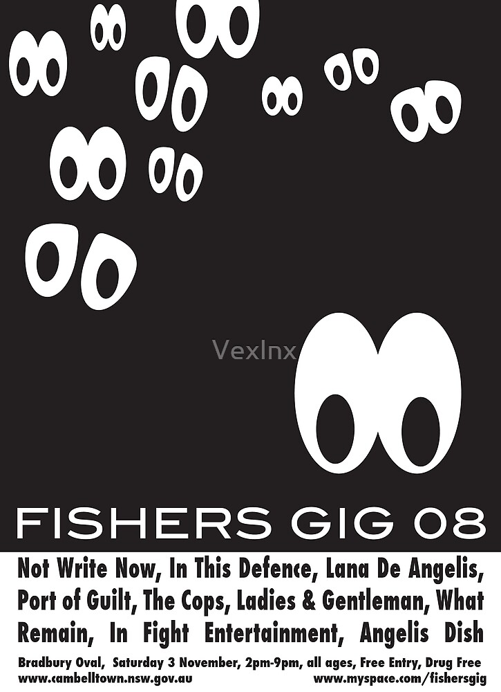 Fisher's Gig - Repetition Poster by VexInx
