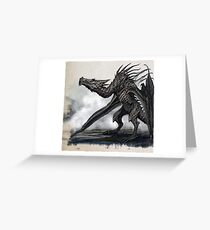 Skyrim - dragon Greeting Card