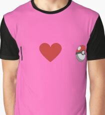 I Heart Pokemon Graphic T-Shirt