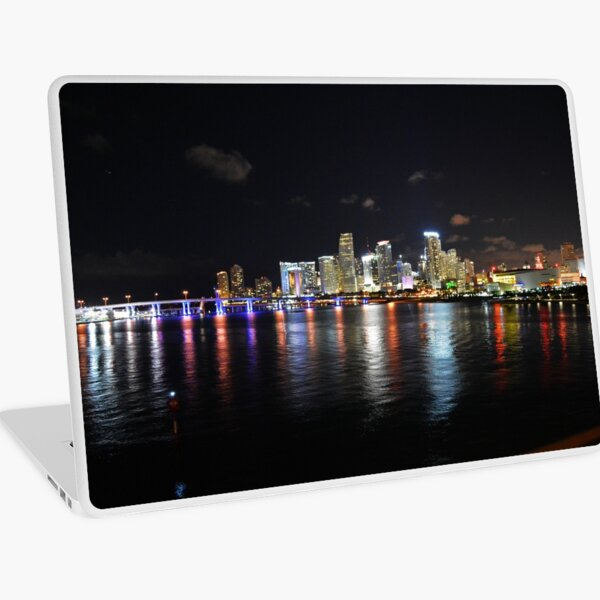 Miami at Night Laptop Skin
