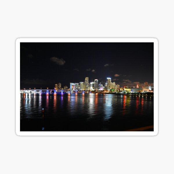 Miami at Night Sticker