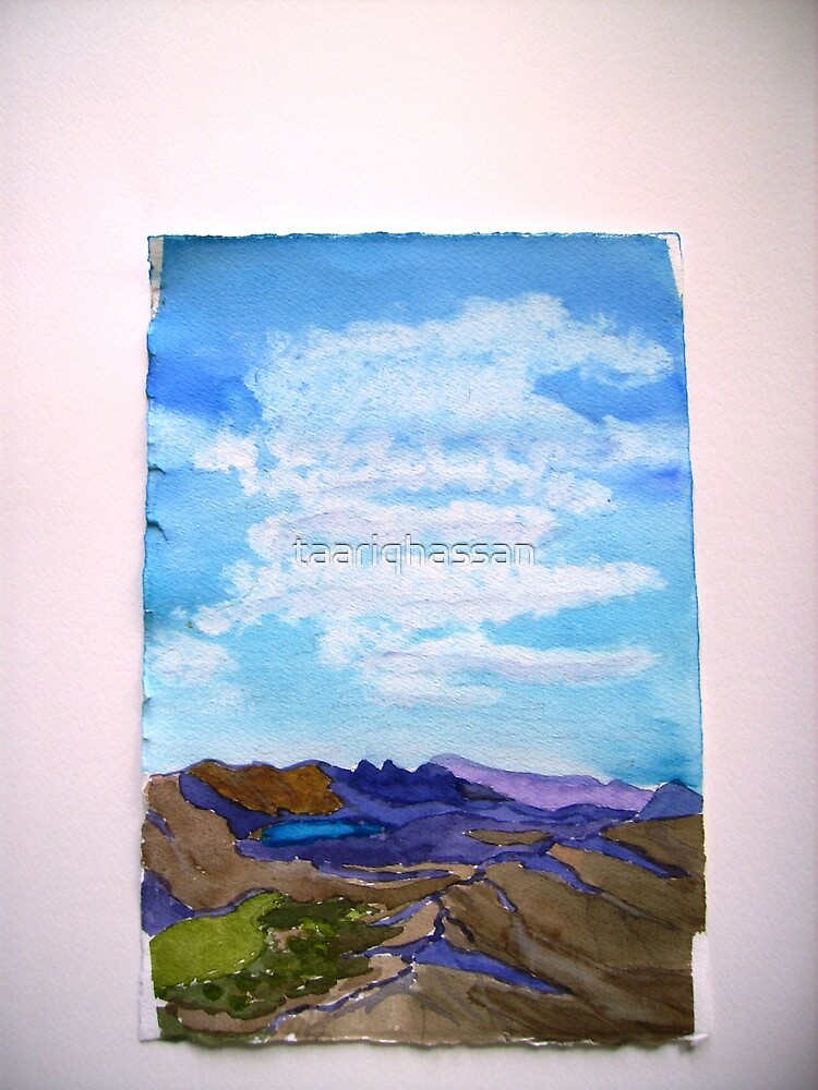 watercolour painting  of the Grampians  Vic. Australia:by taariq hassan by taariqhassan