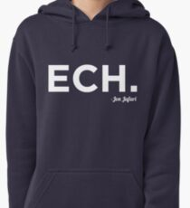ECH White Pullover Hoodie