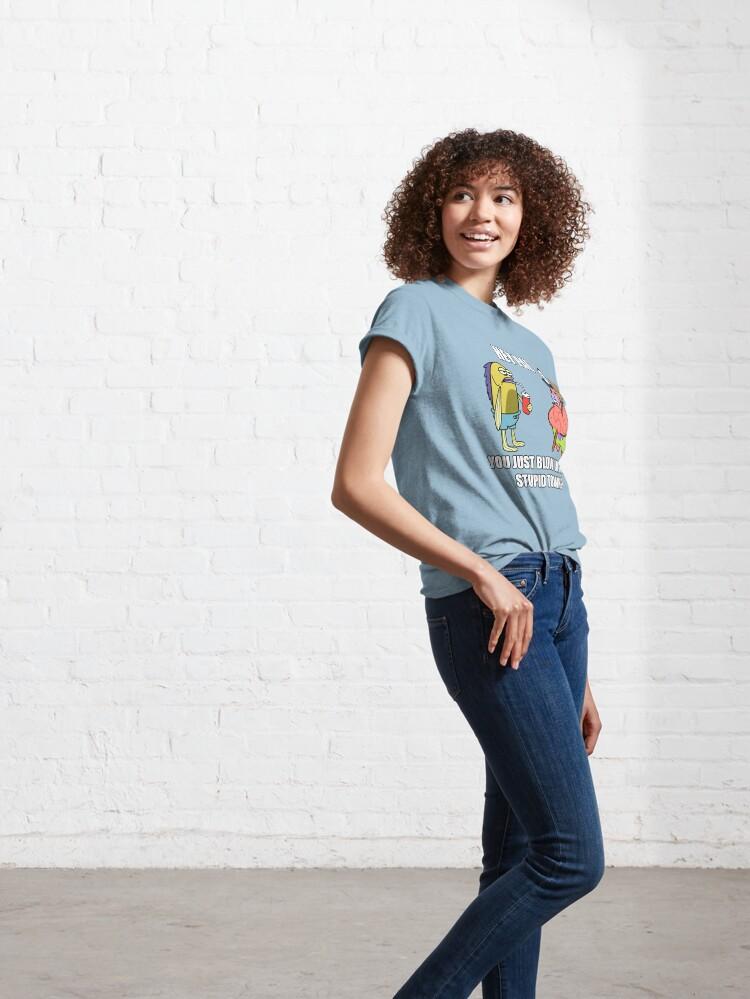 Alternate view of Spongebob - Stupid Town Classic T-Shirt