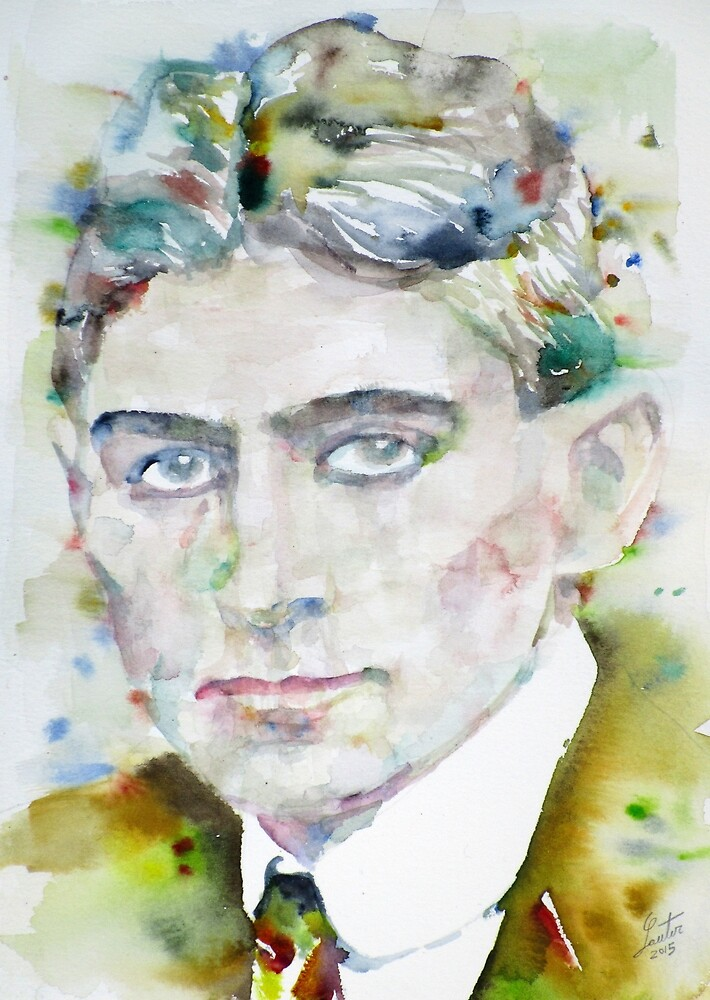 FRANZ KAFKA - watercolor portrait.6 by lautir