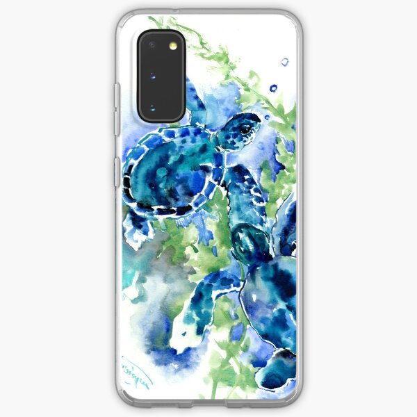 Sea Turtles Turquoise BLue design Samsung Galaxy Soft Case