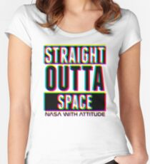 CMYK Straight Outta Space 1  Women's Fitted Scoop T-Shirt