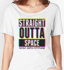 CMYK Straight Outta Space 1 (dark) Women's Relaxed Fit T-Shirt