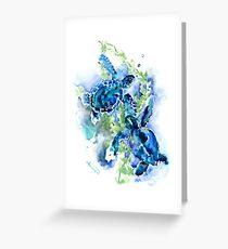 Meeresschildkröten Türkis BLue Design Grußkarte