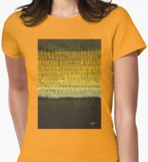 Southern Lights original painting Women's Fitted T-Shirt