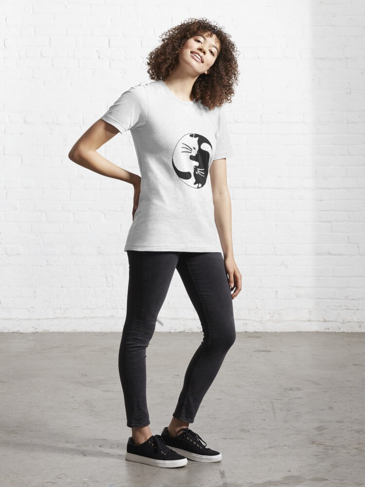 Alternate view of Yin and yang kitty Essential T-Shirt