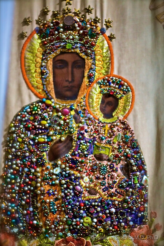 The Black Madonna of Czestochowa. Queen of Poland. Views: 10429 . Has been SOLD ! Promotor Fidei. by © Andrzej Goszcz,M.D. Ph.D