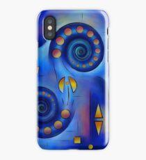 Grefenorium - blue spiral world iPhone Case/Skin