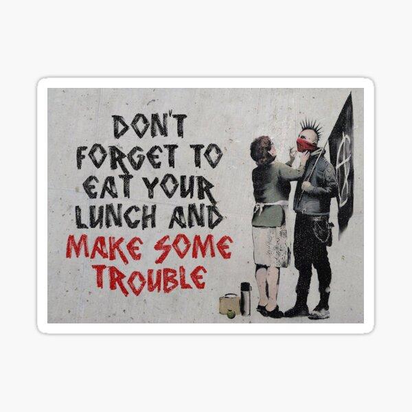 Banksy, anarchiste Sticker